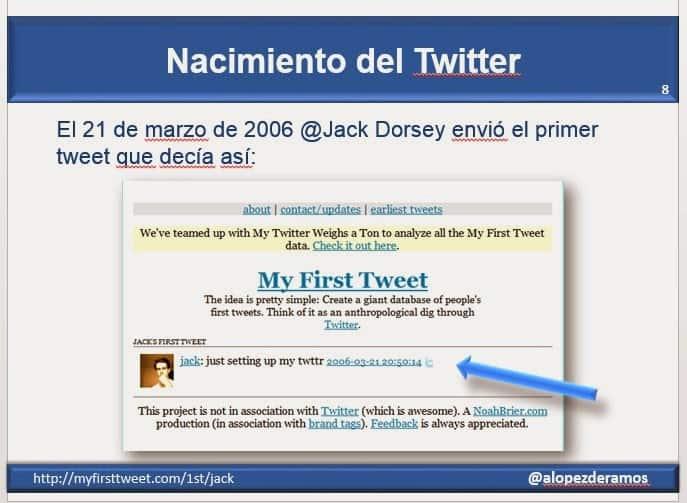 Primer tweet de Jack
