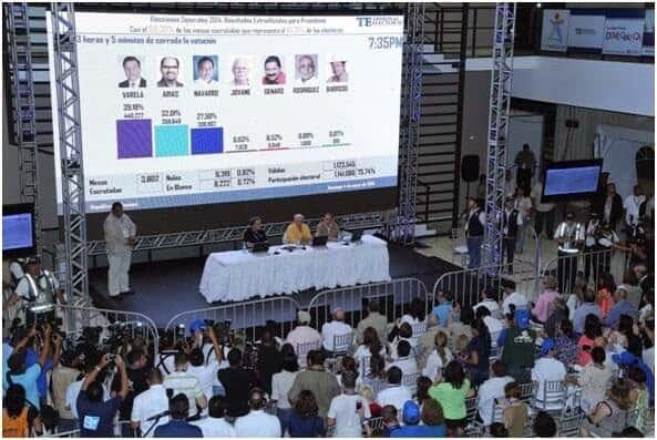 Resultados de las elecciones presidenciales Panamá 2014. Fuente: Tribunal Electoral @tepanama