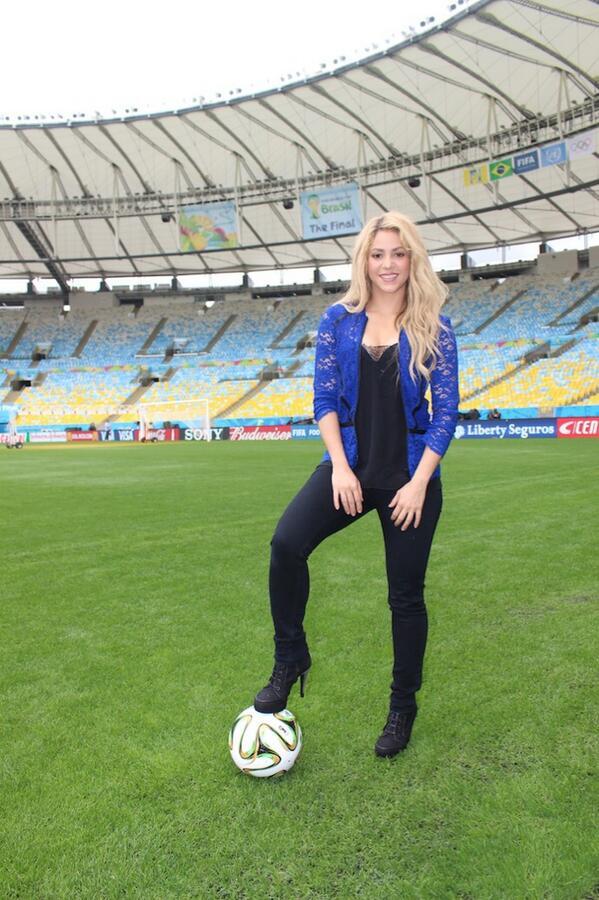 Foto de Shakira previa al cierre del Mundial 2014.
