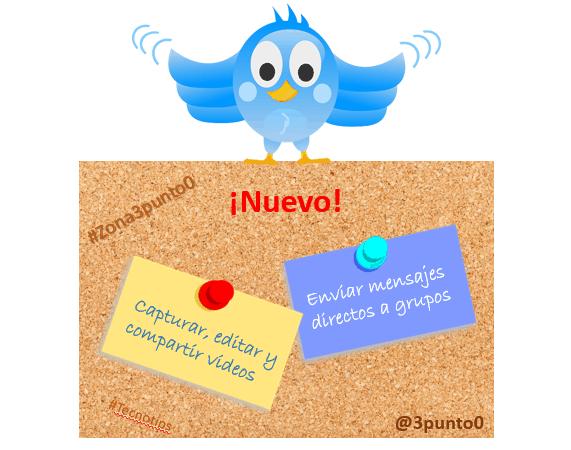 Las dos funcionalidades nuevas de Twitter.