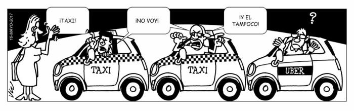 Mancheta sobre taxis diario la Prensa Panamá